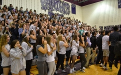 Winter sports pep rally photos