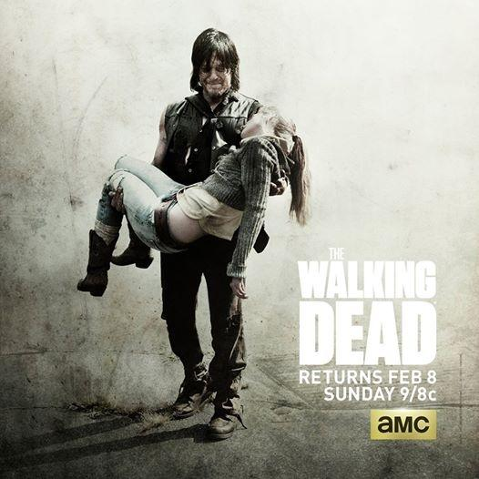 Daryl, played by Norman Reedus, carries Beth's body, played by Emily Kline.  This scene was the most talked about scene in the episode for the way the writers wrote Daryl's reaction to Beth's death.