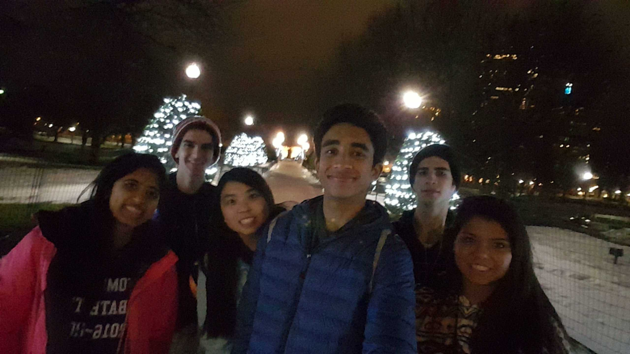 Debaters toured the Boston Commons area while on their break from the competition.  Photo submitted by Sherlyn Chuang