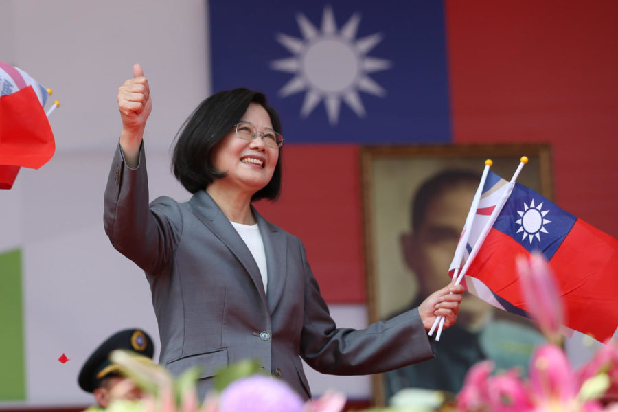 President+Tsai+Ing-wen+gives+a+thumbs+up+during+her+speech+on+Oct+10.+Photo+credit%3A+Simon+Liu+%2F+Office+of+the+President+of+the+Republic+of+China+%28Taiwan%29.+