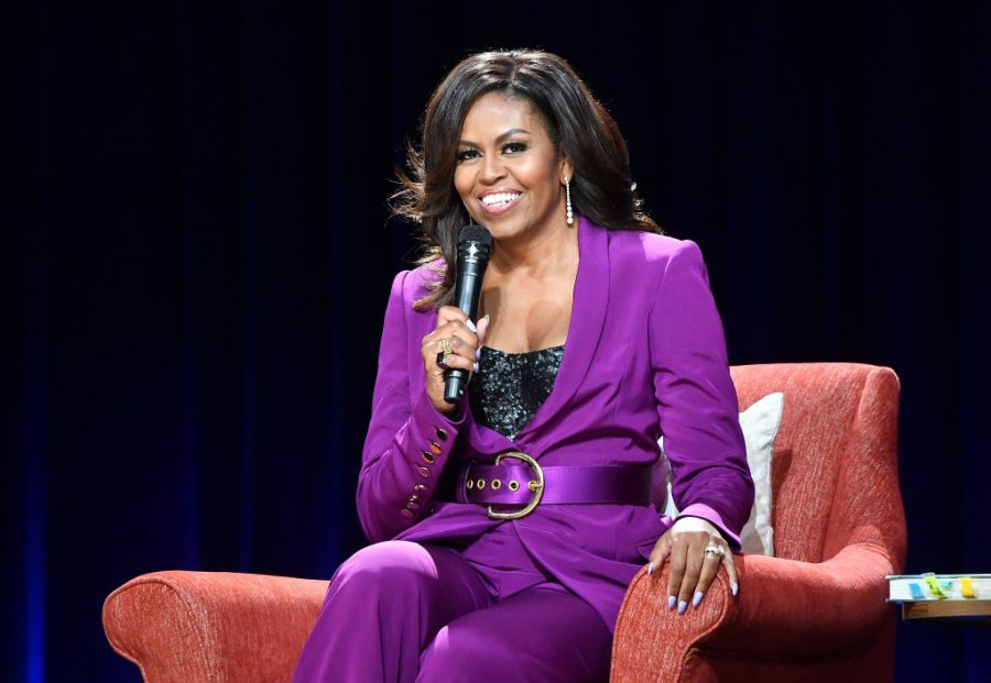 ATLANTA, GEORGIA - MAY 11:  Former First Lady Michelle Obama attends Becoming: An Intimate Conversation with Michelle Obama at State Farm Arena on May 11, 2019 in Atlanta, Georgia. (Photo by Paras Griffin/Getty Images)